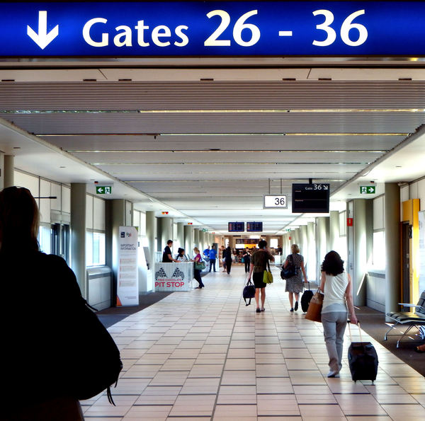 departure directions1: airport flight departures passageway
