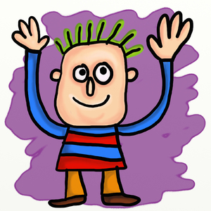 Cartoon Waving Man