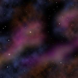 Stars and nebulae graphic: Graphic of outer space, stars, nebulae, etc.