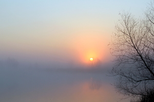 quiet mist sunrise