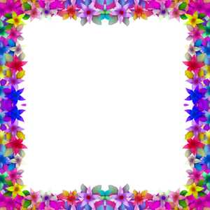 Floral Frame: A frame or border of colourful flowers. You may like:  http://www.rgbstock.com/photo/2dyVEfh/Floral+Border+10  or:  http://www.rgbstock.com/photo/2dyVTpL/Hibiscus+Border+2  or:  http://www.rgbstock.com/photo/2dyVOjv/Floral+Border+34