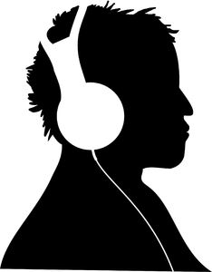 Listen to the music: Two vectors graphic