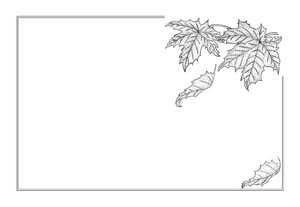 autumn maple leaves frame: This is one of my ink drawings