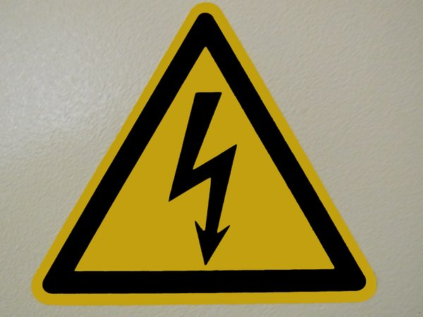 high voltage sign: high voltage sign