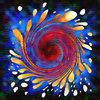 Splat Twirl 2: Ink Splatter Twirled and Colorized.Please visit my stockxpert gallery:http://www.stockxpert.com ..