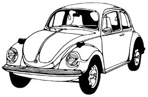 Old Car: Black and White drawing of a classic car.Please visit my stockxpert gallery:http://www.stockxpert.com ..