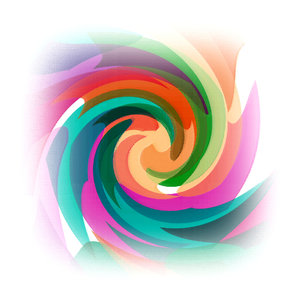 Abstract: An abstract twirl of pastel colors.