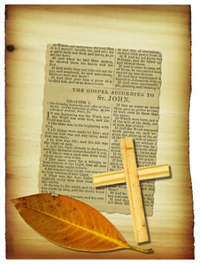 Bible Collage: The Gospel of John.