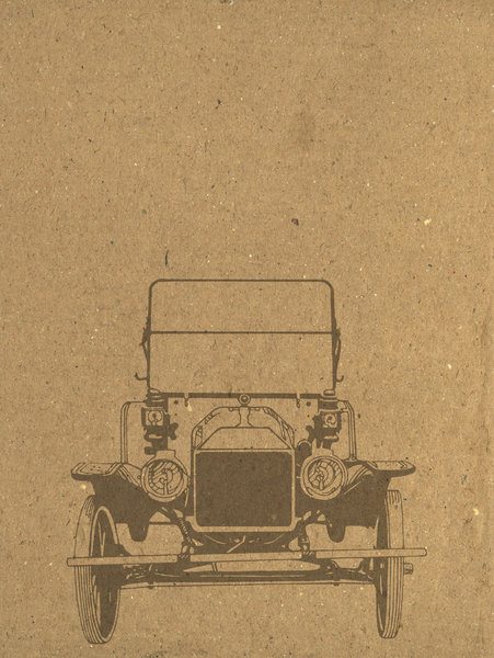 Car Paper: Vintage car drawing on cardboard. Visit me at Dreamstime: 