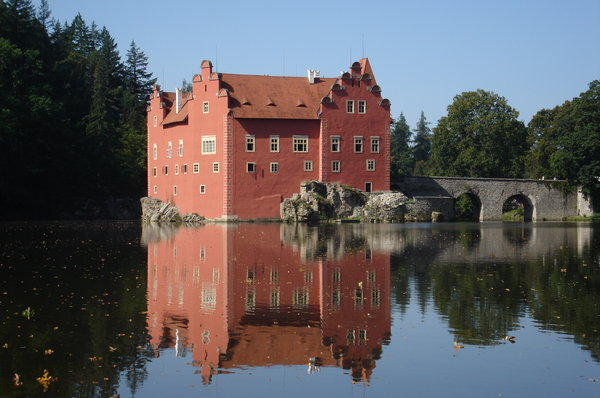 Red castle: Cervena Lhota castle in Czech republic