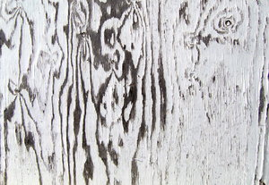 Peeling Paint: A nice plain picture of some wood with peeling white paint.