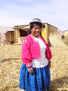 Woman in Uros Island: Woman in Uros Island
