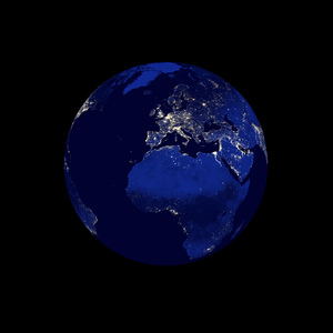 Earth: Night Edition - Europe: An abstract picture of the earth during the night.