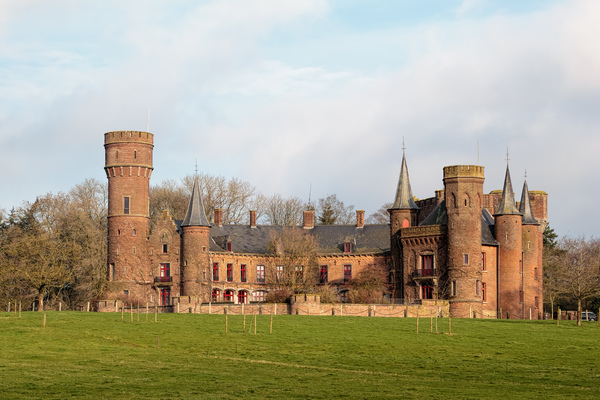 Castle in Wijnendale (Belgium): A picture of the castle of Wijnendale (Belgium) on a sunny day.