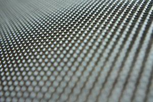 Lattice: Macro shot of a metal lattice
