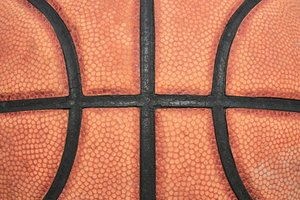 Basketball close-up: Close-up shot of a basketball
