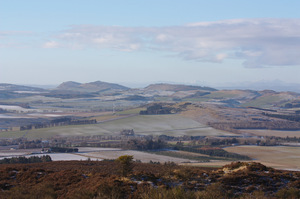 Sidlaw hills in winter: Sidlaw hills north of Dundee, Scotland, on a crisp sunny winter's day