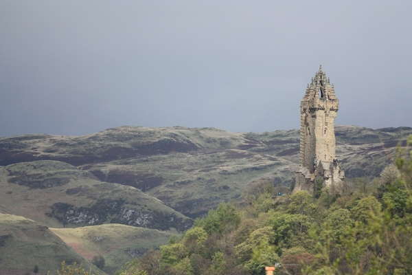 Wallace Monument: View of the Wallace Monument from Stirling