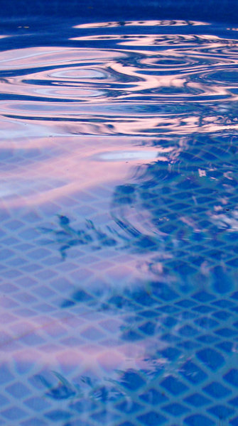 pool sundown 1: pink reflection