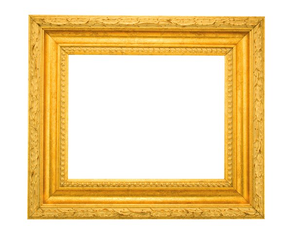 Bright Gold Frame: One of a series of picture frames.