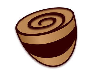 Chocolate Swirl: A coffee cup icon that has ended up looking like a chocolate easter egg.