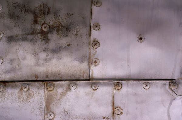 Aircraft texture 2: Rivets and seams on the side of an airplane.
