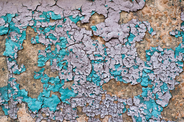 Peeling paint 1: Peeling paint found on a door in downtown Cleveland, Ohio.