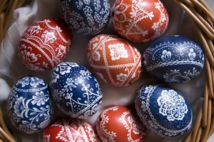 easter eggs 1: Hand painted easter eggs from the Bakony region of Hungary