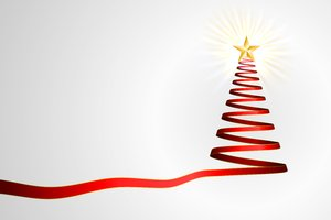 Simple Ribbon Christmas Tree: Christmas tree created with red ribbons