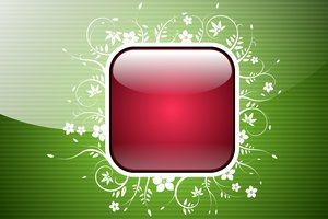 Floral Photo Frame - Button 3: Photo frame in different shapes on the background of the stripes