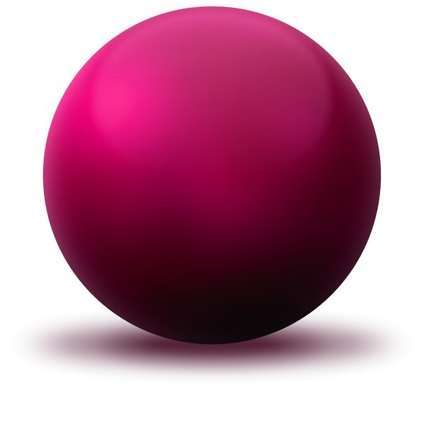 Pink Ball: Pink ball on the white background