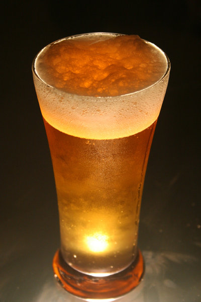 beer: shots of a glass of cold beer