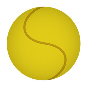 Tennis-ball: a vector tennis-ball illustration