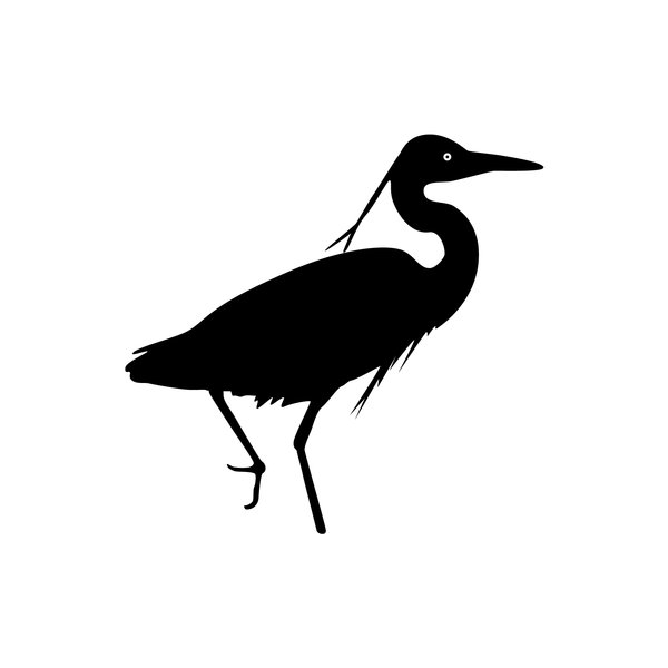 Silhouette Heron wading: hope this can be of use to you