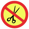 Suppression sign 1: Scissors prohibited