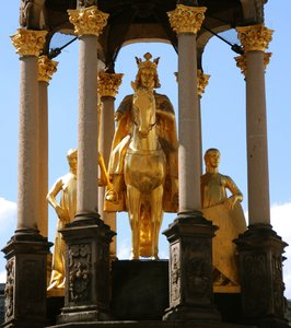 Emperor sculpture: Statue of german emperor Otto the Great, Magdeburg in Germany