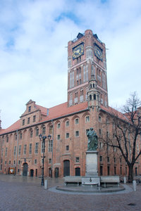 Gothic town hall in the city o: City hall in Thorn, Poland. Now museum