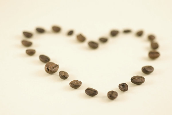 Coffee heart 2: Shape of heart with coffee beans