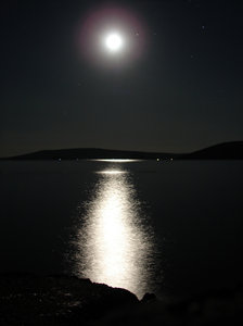 moonlight: moonlight reflection on a sea surface