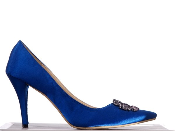 High Heel, blue: A blue high heel shoe