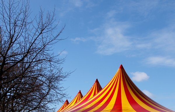 Circus tent top: Circus tents with their special top