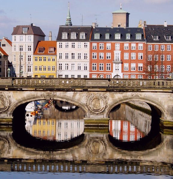 City Centre with chanals 1: Copenhagen with springlight