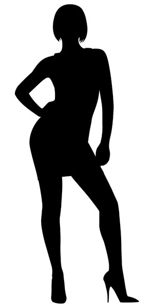 Silhouette Pose 8: Vector Art