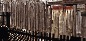 fence: the wood fence in the papigo village