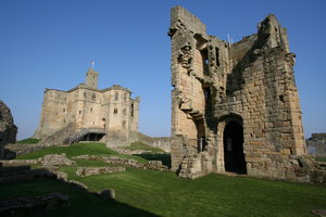 Warkworth Castle 8: Standing on a hill and dominating the village of Warkworth, the dramatic ruins of Warkworth Castle provide an evocative image of medieval strength. Norman in origin, the castle was taken over by the Percy family (of Alnwick Castle) in 1332. Later that cen