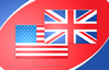 UK USA flag: USA and UK flag in a mix