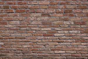 Ancient Wall - Brick Texture: Ancient Wall, Terracotta Brick Structure. Seen near Siena, Tuscany