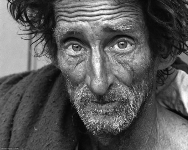 Homeless Portraiture 02: Portrait of homeless man, Comments gratefully appreciated, Thanks