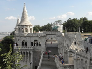 Fisherman's Bastion: Fisherman's Bastion in Budapest, Hungary