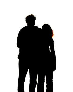 couple silhouette: none